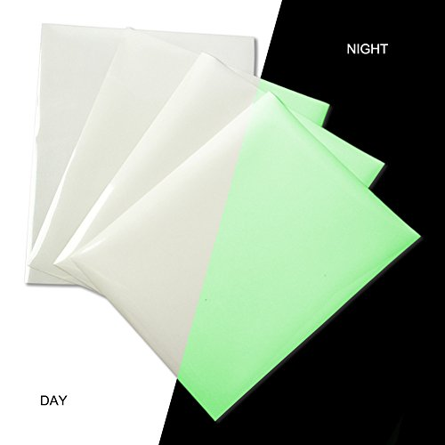 Glow in Dark Heat Transfer Vinyl Sheets Glossy Iron on HTV Vinyl Adhesive Glowing Craft Film...