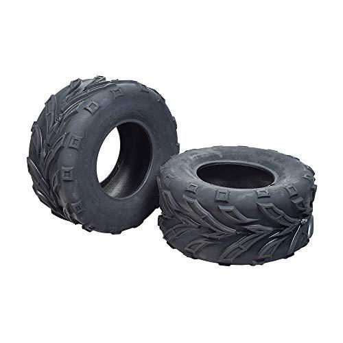 Set of Two 22x10.00-10 (250/60-10) ATV & Go-Kart Tires with QD116 Tread