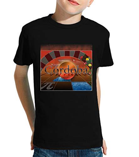 latostadora - Camiseta Cordoba Peque para Nino y Nina Negro L