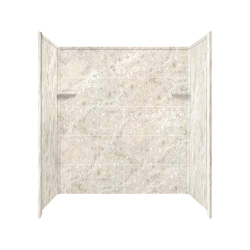 shower wall materials Transolid RBE6026-92 Solid Surface Tub/Shower Wall Kit, 32-Inch x 60-Inch x 60-Inch, Silver Mocha
