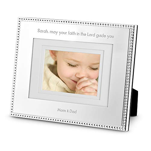 Things Remembered Personalized Silver Beaded 4 x 6 Landscape Picture Frame with Engraving Included
