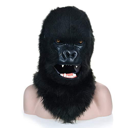 WINPSHENG-máscara para Adultos Máscara del Gorila Negro Fauna con la Boca Mover (Color : Black)