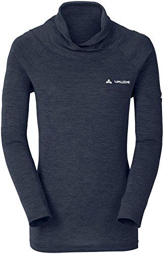 VAUDE Camiseta para Mujer Altiplano LS, Eclipse, 44, 40274