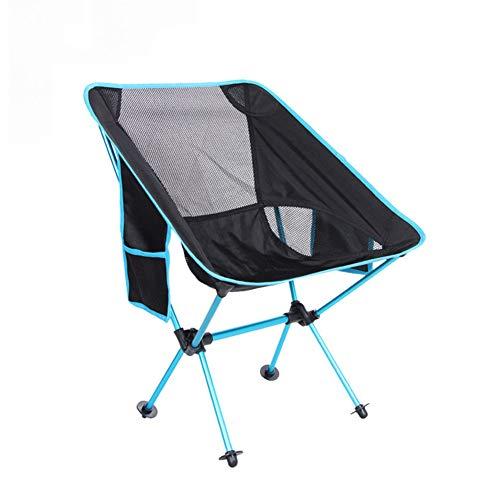ZHHAOXINFC Draagbare campingstoel, vouwstoel, licht en compact, draagbaar, sterk stevig massief aluminium, duurzaam, gemakkelijk te dragen, eenvoudige opslag lichtgewicht