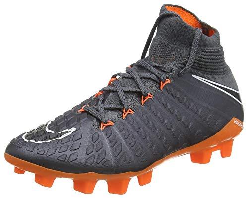 Nike Jr Phantom 3 Elite DF Fg, Scarpe da Fitness Unisex-Bambini, Multicolore (Dark Grey/Total Oran 081), 38 EU