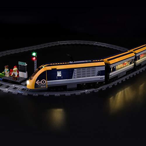 LIGHTAILING Jeu De Lumières pour (City Le Train de passagers télécommandé) Modèle en Blocs De Construction - Kit De Lumière A LED Compatible avec Lego 60197(Ne Figurant Pas sur Le Modèle)