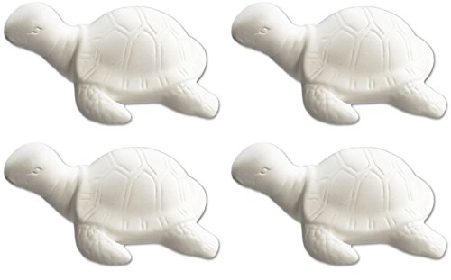 Squirt The Little Sea Turtle - Set of 4 - Host Your Own Sea-rific Ceramic Painting Party