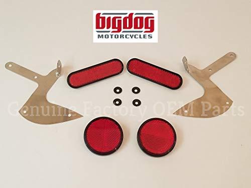 Big Dog Rear Red DOT Reflector Set - K-9, Chopper, Mastiff, Bulldog, Coyote
