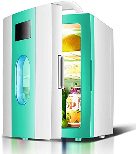 X&Z-XAOY Refrigerador Pequeño del Coche, Mini Nevera 8L, Más Fresco Y Más Cálido Neveras De Doble Uso para El Hogar del Automóvil Tranquilo para Viaje por Carretera, Picnic, Camping, Hogar, Oficina