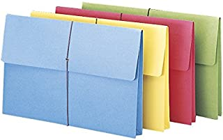 """Smead Expanding File Wallet with Closure, 2"""" Expansion, Closure, Legal Size, Assorted Colors, 50 per Box (77271)"""