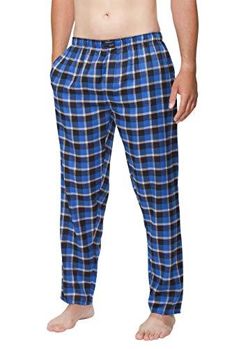 Good Deal Market Herren Flanellhose, Farbe: Navy, Größe: XL Schlafanzughose Weiche Innen-Elastik Nachtwäsche