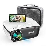 Proyector WiMiUS S25 WiFi Bluetooth Compatible con 1080p Full HD, Proyector de Video HD con Altavoz para Cine en casa