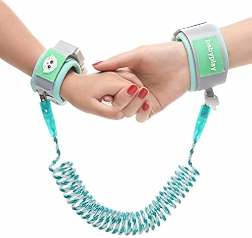 Baby Anti-Lost Belt, 1PCS 2m Child Baby Toddler Reins Safety Strap Leash Walking Hand Belt Elastic Wire Rope Fluorescent and Security Lock Travelling Helper, for Toddlers Kids Children