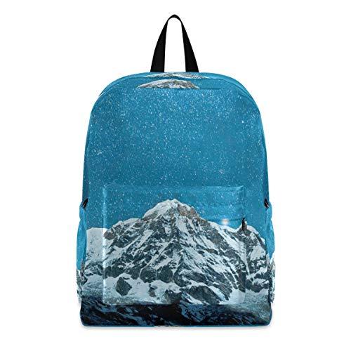 Nepal Himalaya Noche Estrellas Mochilas Luz Escuela Libro Bolsa Viaje Senderismo Camping Deportes Daypack para Niño Hombre