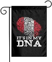 その私のDNAペルーの旗ガーデンフラッグ12x18両面ファーム芝生屋外装飾ガーデンバナー
