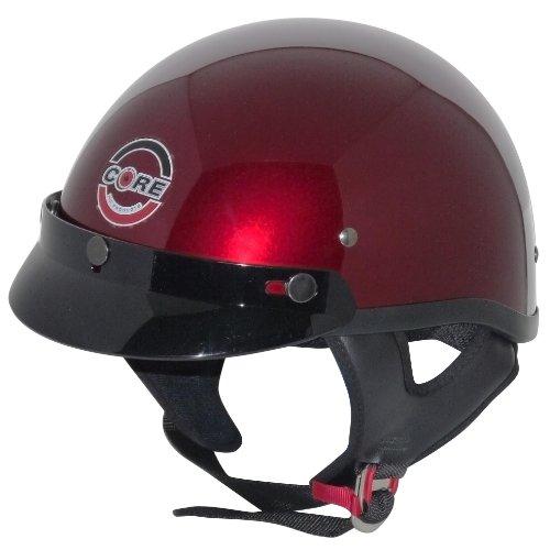 Core Cruiser Shorty Half Helmet (Wine, Small)