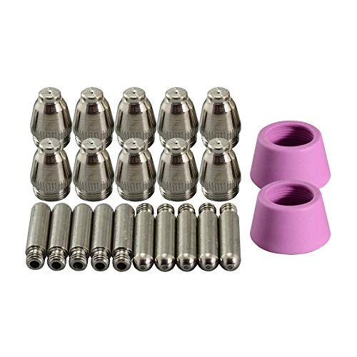 Magiin Set de 30pcs Accesorios para Cortador de Plasma Antorcha de Corte Boquillas de Porcelana Consumibles Accesorios Electrodos para SG-55 AG-60