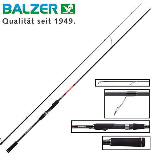 Balzer Shirasu Medium Crank Shad 2,42m 22-53g - Spinnrute für Hechte & Zander, Angelrute für Wobbler & Gummifische, Hechtrute