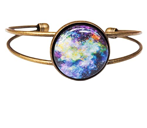 Pulsera Galaxia, pulsera espacial, morado, azul, pulsera, brazalete, Stardust, espacio, universo, sistema solar, regalo para ella