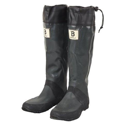 (BW-01)日本野鳥の会 バードウォッチング長靴 レインブーツ/ラバーブーツ グレー (L)
