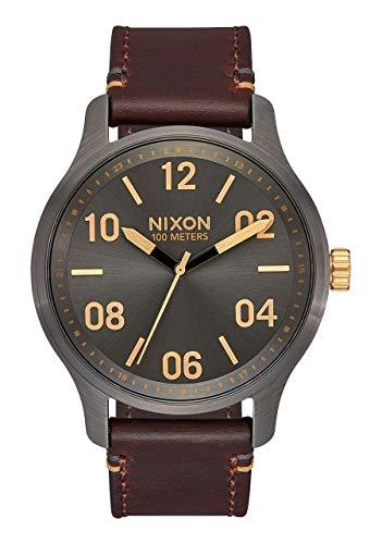 Nixon Reloj Analógico para Hombre de maquinaria Japonesa de Cuarzo con Correa en Piel A1243-595-00