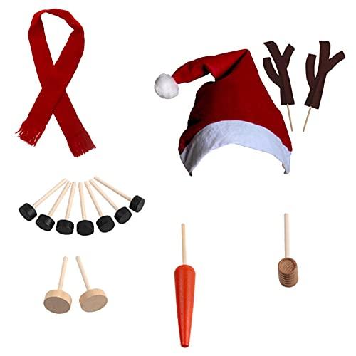 Juego de construcción de muñeco de nieve, kit de muñeco de nieve, zanahoria con narices de muñeco de nieve, fiesta de invierno para niños, juguetes al aire libre, decoración, regalo navideño, juego de