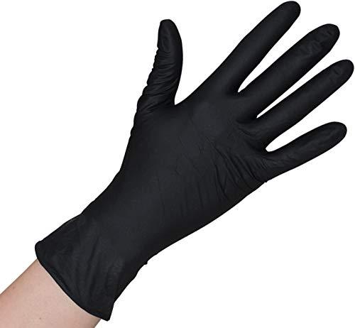 Herrmann Einweghandschuh in Größe S | 100 Stück | Latex Einzelhandschuhe Schwarz in praktischer Spenderbox | Ideal für Hygienebereiche - wie Lebensmittelbranche, Kosmetik UVM. (S)