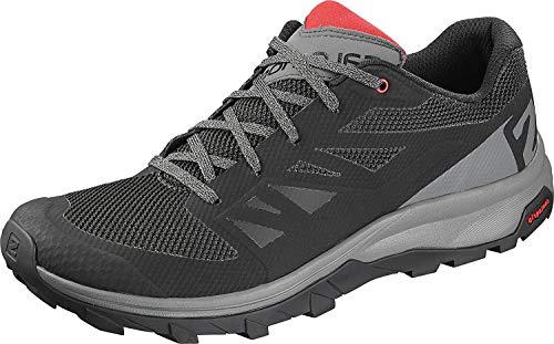 SALOMON Herren Shoes Outline Bk/Quiet Shad/high Risk Sneaker, Mehrfarbig (Schwarz/Leiser Farbton/Hochrisikorot), 47 1/3 EU
