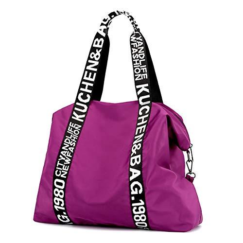 Bolso Bandolera Mujeres, Popoti Bolsas de Hombro Mano Nylon Totalizador del Monedero Mochila Escolar Portátil Billetera Multifuncional Crossbody Bag (Púrpura)