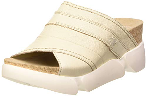 FLY London Suze582fly, Mules Mujer, Marfil (Offwhite 007), 38 EU