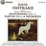Szymanowski Violin Concerto No 1; Bartok Violin Concerto No. 1 ; Hindemith: Violin Concerto (Urania)