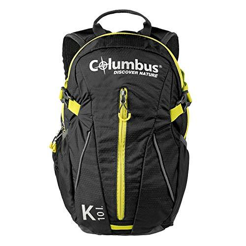 Columbus K 10 Mochila, Unisex Adulto, Black, Talla Única