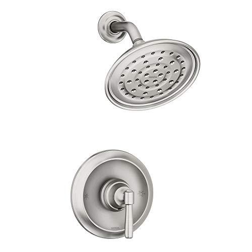 Moen 82971SRN Halle Moen 82971SRN Halle Posi-Temp Shower Faucet Trim with Valve, Spot Resist Brushed Nickel
