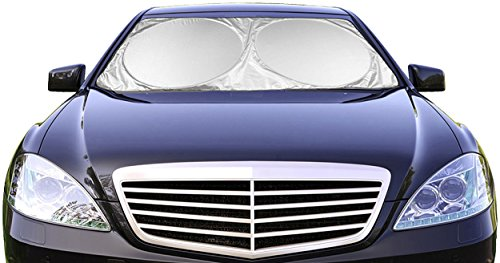 Car Windshield Sunshade (59' x 31.5') UV Protector Shields Auto & Keeps Vehicle...