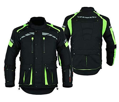 sportiva per motocicletta altamente protettiva LJ-2020MR colore nero Giacca corazzata da uomo in pelle pieno fiore
