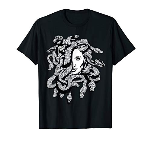 Medusa Greek Mythology Snake Lover Art T-Shirt