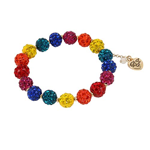 Betsey Johnson Stone Fireball Stretch Bracelet, Bright Rainbow (292391GLD970)