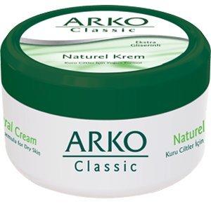3x 100ml Arko Classic Naturell Creme