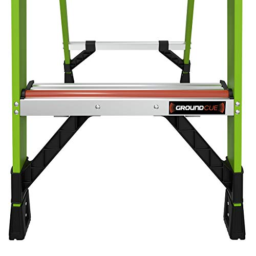 Little Giant Ladders, MightyLite, M8, 8 ft Stepladder, Ground Cue, Fiberglass, Type IAA, 375 lbs weight rating, Green, (15388-001)