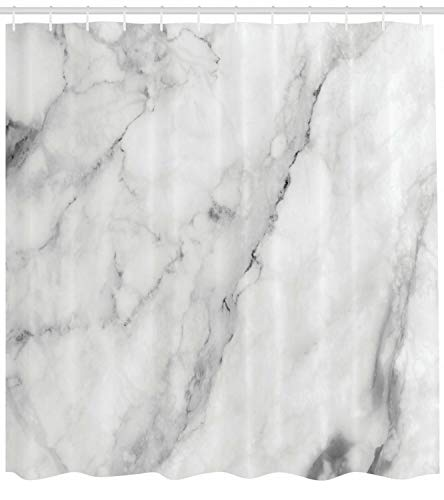 Marmor Duschvorhang Granit Oberfläche Motivdruck für Badezimmer