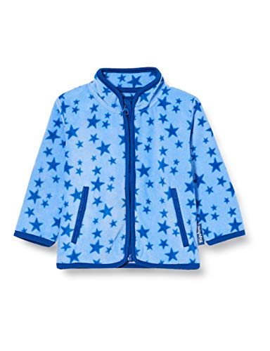 Playshoes Unisex Kinder Fleece-jacke Sterne Jacke, Blau, 80 EU