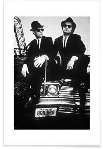 """JUNIQE® Filme Schauspieler & Schauspielerinnen Poster 40x60cm - Design """"Dan Akroyd and John Belushi in Blues Brothes, 1980"""" entworfen von Vintage Photography Archive"""
