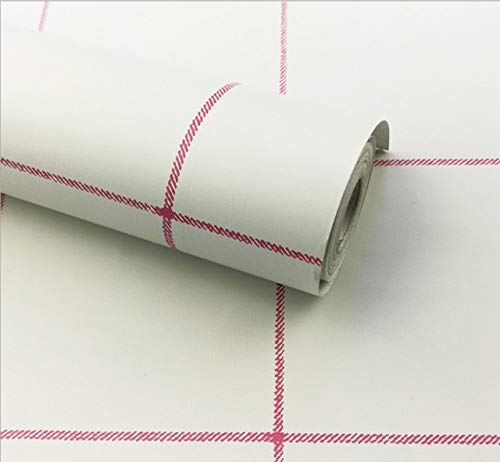 jidan Günstige Streifenleitungswand Papierrollen 3D Ziegel PVC Selbstklebende Tapete for Schlafzimmer Wohnzimmer Dekor (Color : White, Dimensions : 10mx45cm)