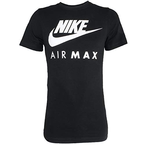 NEW Nike Mens Branded Designer Fitness Gym Crew Neck Air Max T-shirt, Nero, L