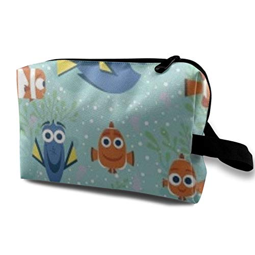 Springs Creative Dory and Nemo All Smiles Toiletry Bag Cosmetic Bag Portable Makeup Pouch Travel Hanging Organizer Bag for Women Girl 10x5x6.2 inch