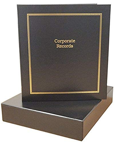HUBCO 3-Ring Business Binder Portfolio with Company Name Tag Insert and Slipcase (Black)