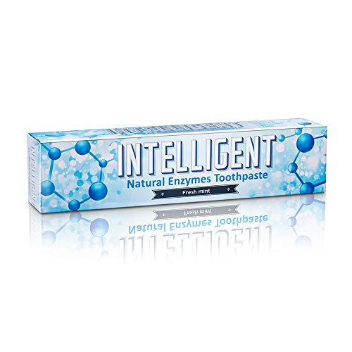 Intelligent Enzymatic Teeth Whitening Toothpaste (Best Natural Oral Care for Canker Sore and Dry Mouth) Sulfate-Free, Fluoride-Free, Non-Foaming, Mild Mint, 2.82 Ounce