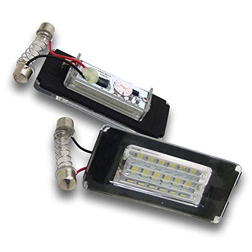 Boomboost 2pcs 18 LED 3528 SMD Lampe d'éclairage de Plaque d'immatriculation pour BMW Mini Cooper R56 Blanc Brillant