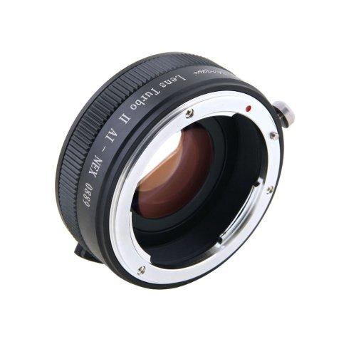 Zhongyi Lens Turbo II 0,72x Speed Booster für Nikon F Mount AI Objektiv an Sony NEX E Mount APS-C Kamera A6000