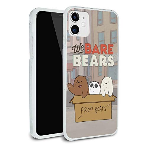 We Bare Bears Baby Bears Protective Slim Fit Hybrid Rubber Bumper Case Fits Apple iPhone 8, 8 Plus, X, 11, 11 Pro,11 Pro Max